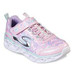 111f854515521 Skechers S Lights Heart Lights Girls  Light Up Shoes. Silver Multi Light  Pink ...