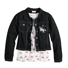 Girls 7-16 Self Esteem Tank & Jacket Set