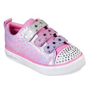 Skechers Twinkle Toes Twinkle Breeze 2.0 Sparkle Dust Girls' Light Up Shoes