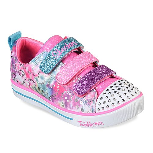 8ffe39e0b415 Skechers Twinkle Toes Shuffles Sparkle Lite Rainbow Brights Girls  Light Up  Shoes