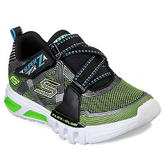 Details about SKECHERS Hypno Flash 2.0 Boys Size US 8 Black Red Light Up Sneakers Shoes ZY 92