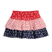 Toddler Girl Jumping Beans® Patriotic Tiered Skort