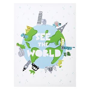 Trend Lab See the World Dinosaurs Canvas Wall Art