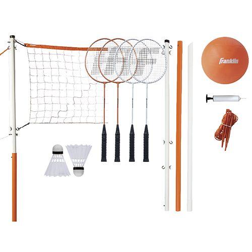 Franklin Sports Starter Badminton & Volleyball Set