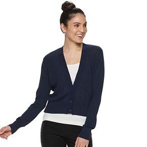 Women's Apt. 9® Ribbed Crop Cardigan