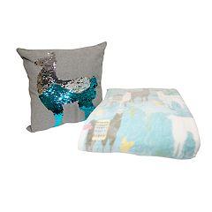 Holly Decor Llama Throw Pillow & Throw