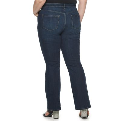 Plus Size EVRI All About Comfort Midrise Bootcut Jeans