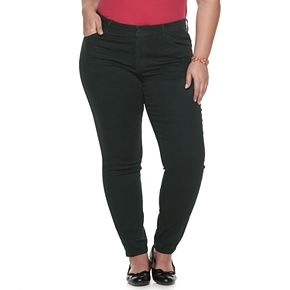 Plus Size EVRI All About Comfort Midrise Skinny Less Curvy Jeans
