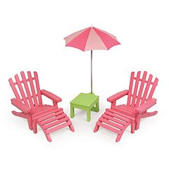 Badger Basket 6-Piece Doll Patio Furniture Play Set
