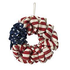 Americana Cloth Flag Wreath