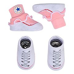 Baby Girl Converse 2-pack Chuck Patch Bootie Socks
