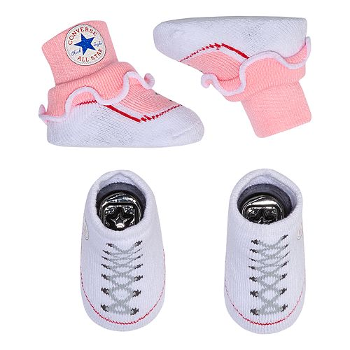 Converse Baby Girls Frilly Sock Booties-2 Pack
