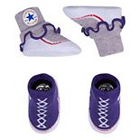 Baby Girl Converse 2-pack Frilly Chucks Bootie Socks