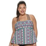Plus Size Mix and Match Racerback Tankini Top