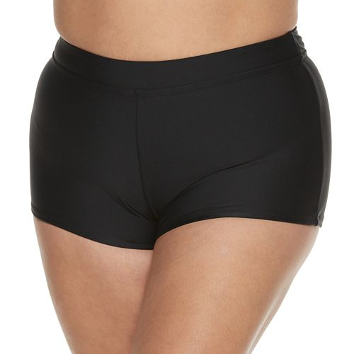 Plus Size Mix and Match Boyshort Swim Bottoms