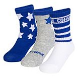 Baby Converse 3-pack Star Crew Socks