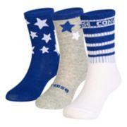 Toddler Converse 3-pack Star Crew Socks