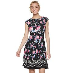 Women's ELLE™ Floral Seamed Fit & Flare Dress