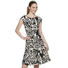 Women's ELLE™ Floral Seamed Fit & Flare Dress