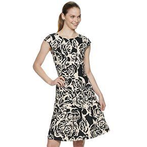 Women's ELLE? Floral Seamed Fit & Flare Dress