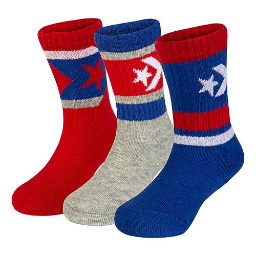 Baby Boy Converse 3-pack Chevron Crew Socks