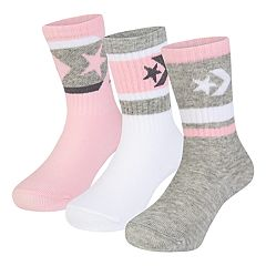 Toddler Girl Converse 3-pack Chevron Crew Socks