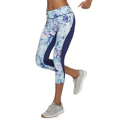 Women's Tek Gear® Performance Mesh Insert Midrise Capri Leggings