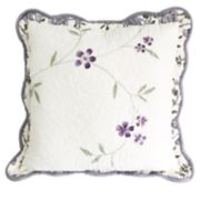 Croft & Barrow Lilac Floral Embroidered Throw Pillow
