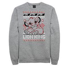 Men's Disney's Lion King Simba Holiday Heather Fleece Sweatshirt