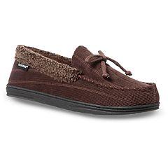 f593ba0416c25 Men s isotoner Scott Corduroy Moccasin Slippers. Dark Chocolate Black