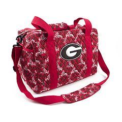 Georgia Bulldogs Quilted Duffel Bag