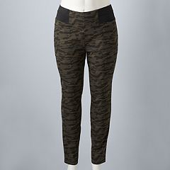 Plus Size Simply Vera Vera Wang High-Waisted Camo Leggings