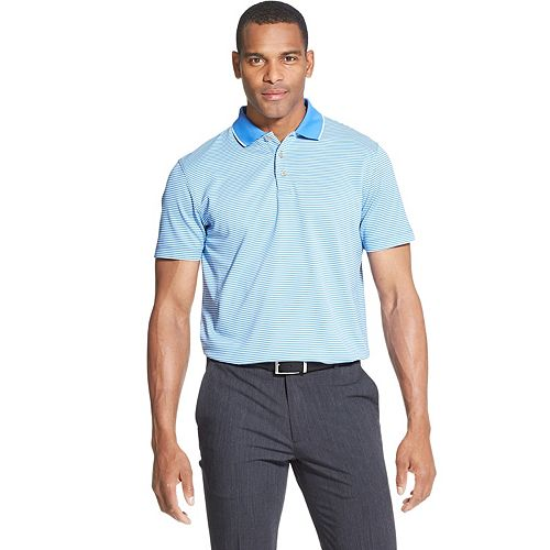Van Heusen Mens Air Short Sleeve Performance Ottoman Polo Shirt Polo Shirt