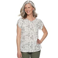 da7d3e4d086372 Womens Grey Blouses Shirts & Blouses - Tops, Clothing | Kohl's
