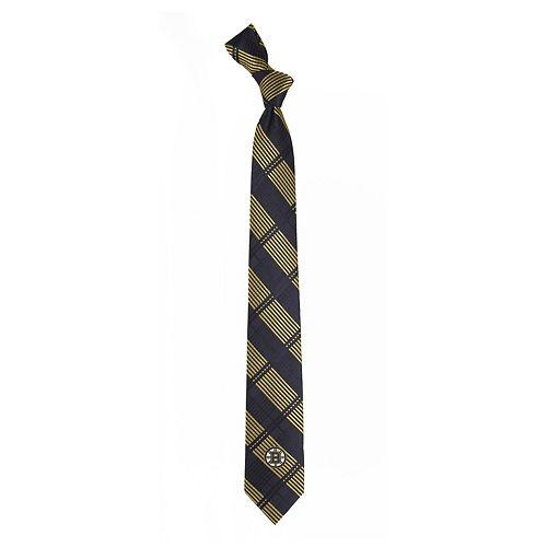 Men's Boston Bruins Plaid Skinny Tie