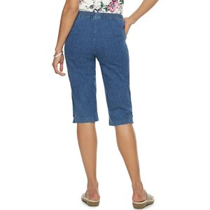 Petite Croft & Barrow® Pull-On Denim Capris