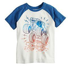 Boys 4-12 Jumping Beans® Monster Truck Raglan Tee
