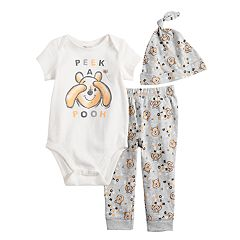 928275312 Disney's Winnie The Pooh Baby Graphic Bodysuit, Printed Pants & Hat Set by  Jumping Beans