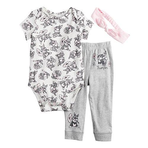 Disney's Bambi Baby Girl Thumper Bodysuit, Pants & Headband Set by Jumping Beans®