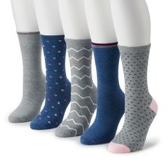 Women's SONOMA Goods for Life™ 5-pk. Assorted Crew Socks