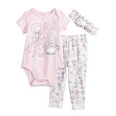 Disney's Little Bo Peep Baby Girl Bodysuit, Leggings & Headband Set by Jumping Beans®
