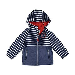 Baby Boy Carter's Colorblock & Striped Hooded Midweight Jacket