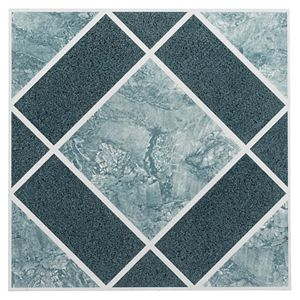 Achim Tivoli Marble Blocks 45 Piece Self Adhesive Vinyl Floor Tile Set