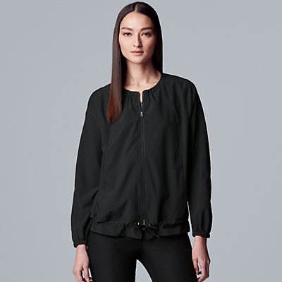Petite Simply Vera Vera Wang Everyday Movement Quick-Dry Drawstring Jacket