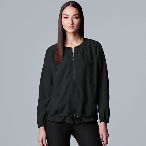 Petite Simply Vera Vera Wang Everyday Movement Quick-Dry Drawstring Jacket