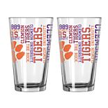Boelter Clemson Tigers Spirit Pint Glass Set