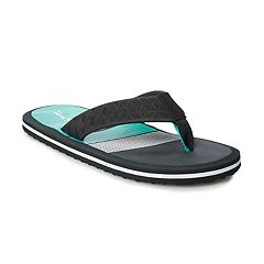 e82f1d66d Men s Panama Jack Colorblock Thong Flip-Flops. Black Gray