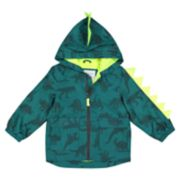Toddler Boy Carter's Dinosaur Hooded Lightweight Rain Jacket