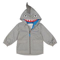 Toddler Boy Carter's Shark Hooded Lightweight Rain Jacket