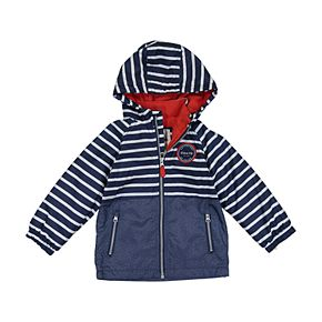 Toddler Boy Carter's Striped Hooded Midweight Jacket